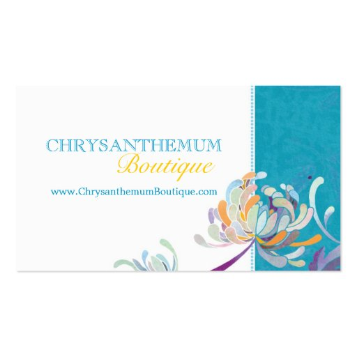 Teal White Wedding Fashion Boutique Business Cards