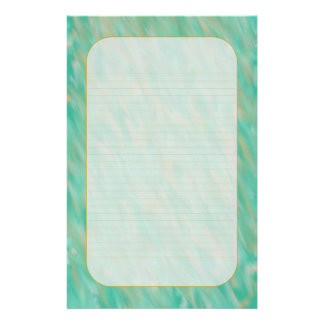 """""""Teal Wind"""" Fine Lined Stationery"""