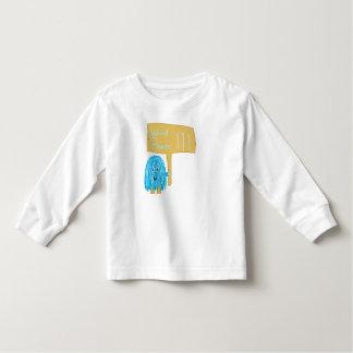 Teal wind power toddler t-shirt
