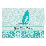 Teal Windsurfing Card