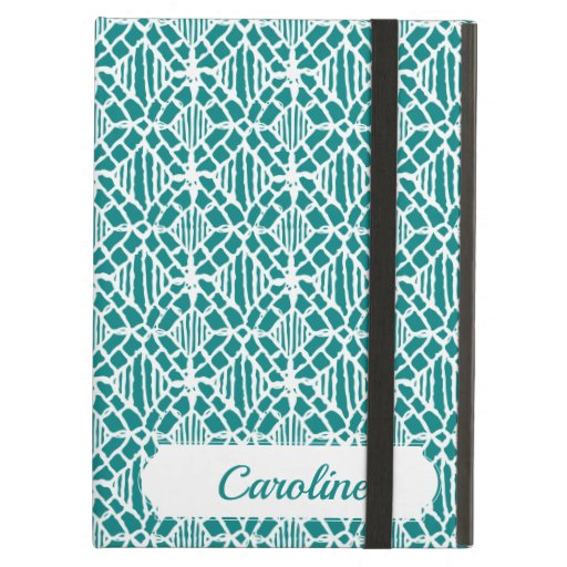 Teal With White Crochet Lace Pattern Case For iPad Air
