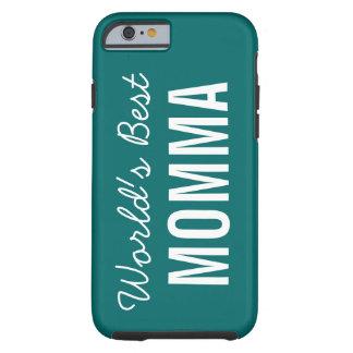 Teal World's Best Momma Custom iPhone 6 Case