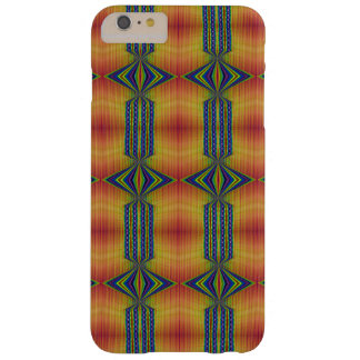 Teal Yellow abstract Barely There iPhone 6 Plus Case