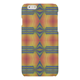 Teal Yellow abstract Matte iPhone 6 Case