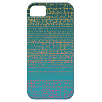 Teal Yellow Broken Lines Abstract Pattern iPhone SE/5/5s Case