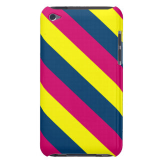Teal, Yellow, Pink, Stripes Barely There iPod Case