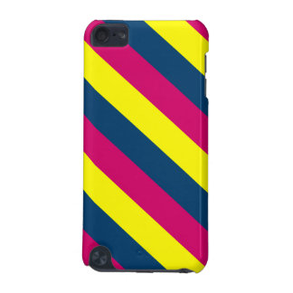 Teal, Yellow, Pink, Stripes iPod Touch 5G Cover