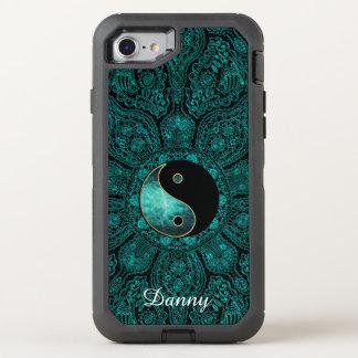 Teal Yin Yang Mandala Otterbox OtterBox Defender iPhone 7 Case