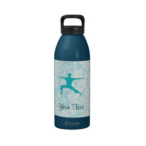 Teal Yoga Reusable Water Bottles