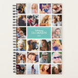 "Teal Your Photos Insta Collage 2021 Planner<br><div class=""desc"">Photo insta collage planner featuring 22 photos of your family and friends,  your name,  and the year.</div>"