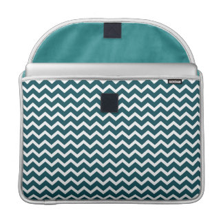 Teal Zig Zag Chevrons Pattern Sleeve For MacBooks