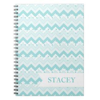 Teal Zigzag Notebook notebook