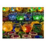 Tealights en un bazar en Estambul (Turquía) Postal