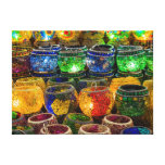 Tealights on a bazaar in Istanbul (Turkey) Stretched Canvas Print