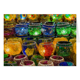 Tealights on a bazaar in Istanbul (Turkey) Greeting Card
