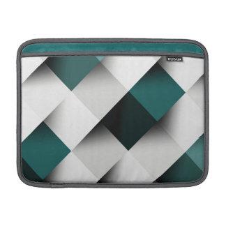 Teals/Grey Geometric Pattern MacBook Sleeve