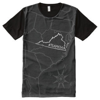 #TEAM434 - PHASE II EAST COAST (BLACK ONLY) All-Over PRINT SHIRT