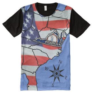 #TEAM434 - PHASE II VA America All-Over Print T-shirt