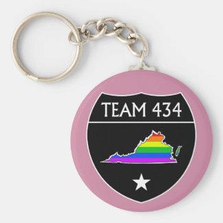 #TEAM434 - PHASE IV BLACK SHIELD -RAINBOW KEYCHAIN