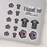 "Team 19 Vinyl Sticker Set<br><div class=""desc"">Team 19 Vinyl Sticker Set</div>"