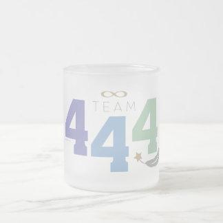Team 444 frosted glass coffee mug