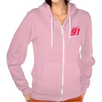 Team 91 Your Age Year Number Fleece Zip Hoodie