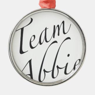 team Abbie Round Metal Christmas Ornament