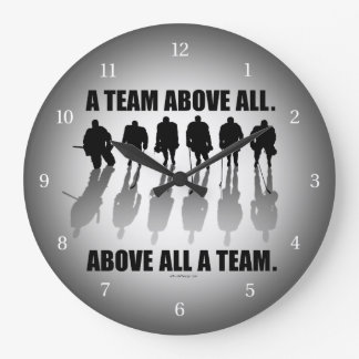 Team Above All (Hockey) Large Clock