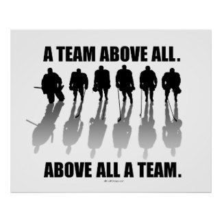 Team Above All (Hockey) Poster