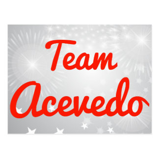 Team Acevedo Postcard