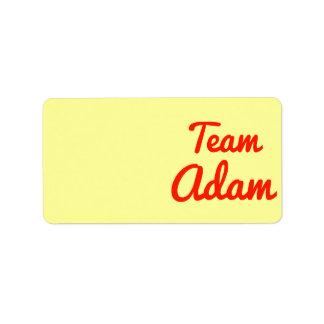 Team Adam Custom Address Label