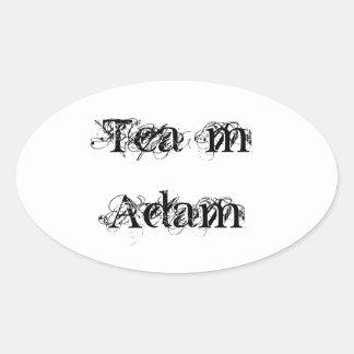 team adam oval sticker