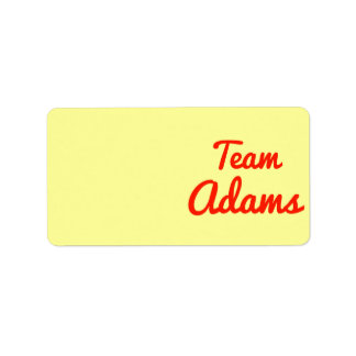 Team Adams Address Label