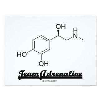 Team Adrenaline (Chemical Molecule Humor) 4.25x5.5 Paper Invitation Card