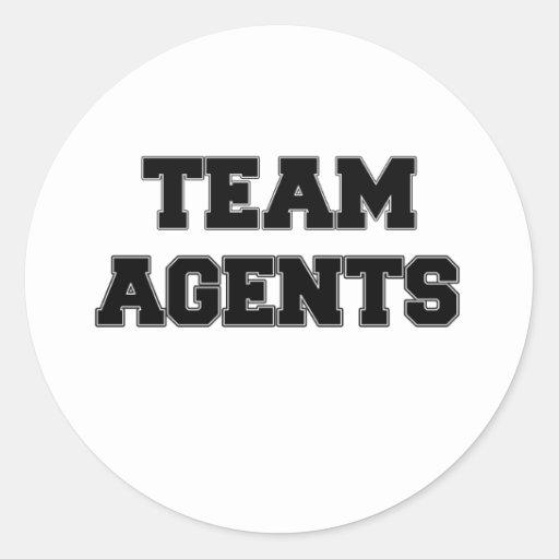 Team Agents Round Sticker
