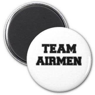Team Airmen 2 Inch Round Magnet