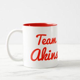 Team Akins Two-Tone Coffee Mug
