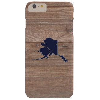 Team Alaska Flag Map on Wood Barely There iPhone 6 Plus Case