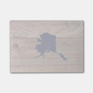 Team Alaska Flag Map on Wood Post-it® Notes