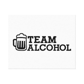 Team alcohol stretched canvas prints