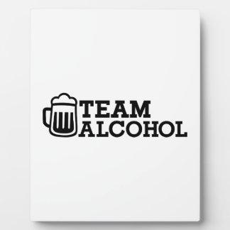 Team alcohol display plaque