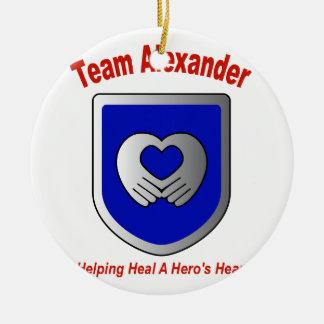 Team Alexander Ceramic Ornament