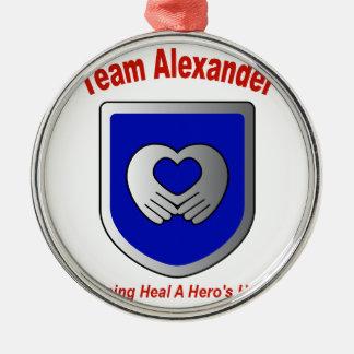 Team Alexander Metal Ornament