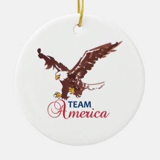 Team America Ceramic Ornament