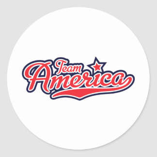 Team America - GO USA! Classic Round Sticker