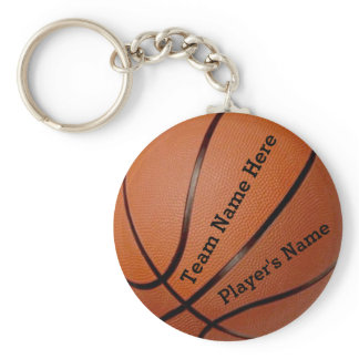 Team and Player's Name Cheap Basketball Keychains