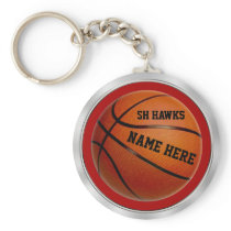 Team and Player's Names Basketball Keychains
