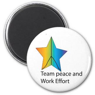 team and work effort 2 inch round magnet