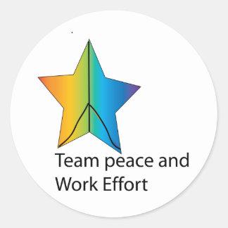 team and work effort classic round sticker