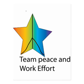 team and work effort postcard